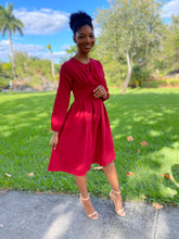 Load image into Gallery viewer, Plain Red dress - Modestapparels