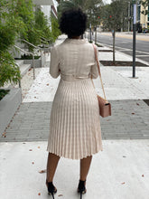 Load image into Gallery viewer, Nude  Plaid Dress - Modestapparels