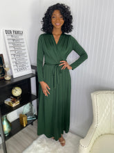 Load image into Gallery viewer, Green maxi dress - Modestapparels