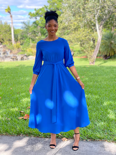 Royal Blue pew Dress