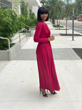 Load image into Gallery viewer, Burgundy maxi dress