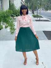 Load image into Gallery viewer, Pink  bow tie blouse - Modestapparels