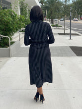 Load image into Gallery viewer, Black and white stripe dress - Modestapparels