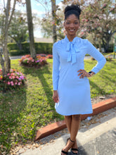Load image into Gallery viewer, Plain baby blue dress - Modestapparels