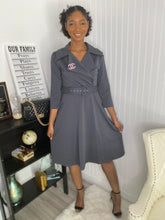 Load image into Gallery viewer, Charcoal grey dress - Modestapparels