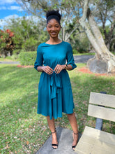 Load image into Gallery viewer, Sea green dress - Modestapparels