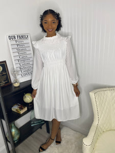 White vintage dress - Modestapparels