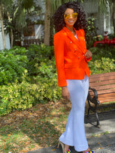 Load image into Gallery viewer, High quality neon orange blazer - Modestapparels