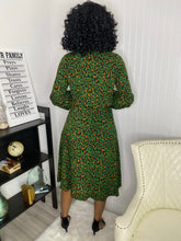 Load image into Gallery viewer, Green Leopard dress - Modestapparels