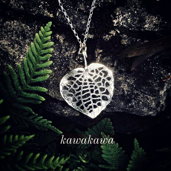 Kawakawa Silver Leaf | pendant necklace | nz jewellery