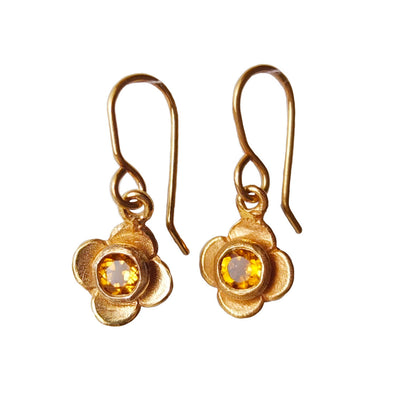 Quatrefoil Citrine Earrings | nz jewellery | Redmanuka