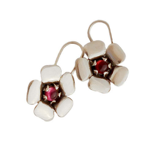 Pink Kanuka Flower Earrings | nz jewellery | Redmanuka