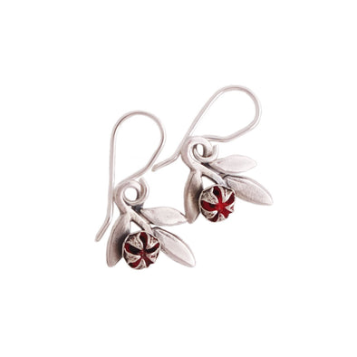 RedMānuka Sprig Silver Earrings | nz jewellery | Redmānuka