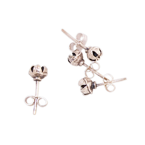 Jewellery NZ | Manuka Seedpod Earstuds with black centres | Redmanuka