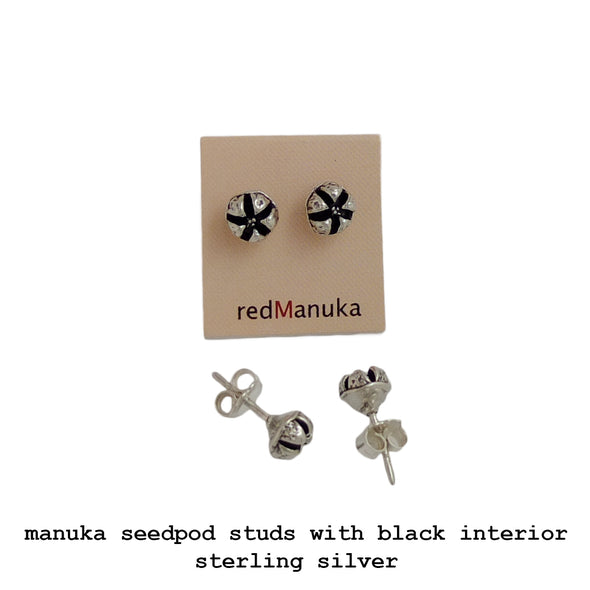 Jewellery NZ | Mānuka Seedpod Earstuds | Redmānuka