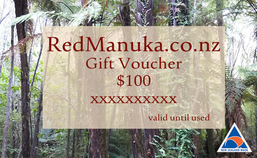 Redmanuka Gift Vouchers, a special gift, no expiry, any value.