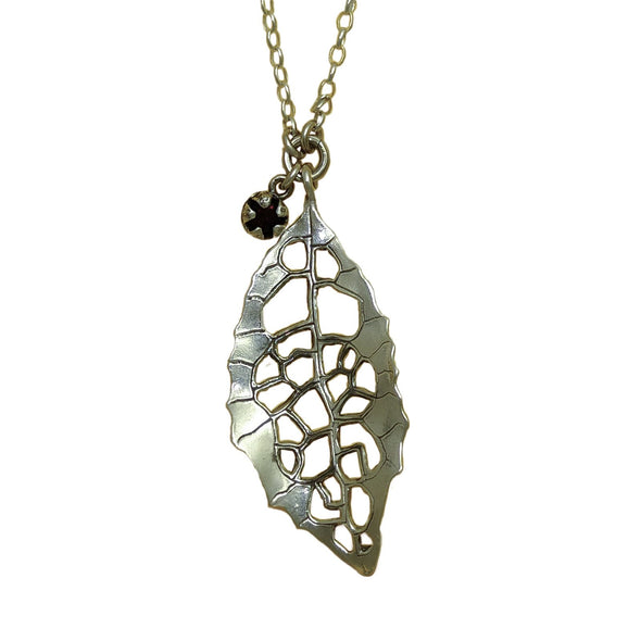 Heketara Silver Leaf | pendant necklace | nz jewellery