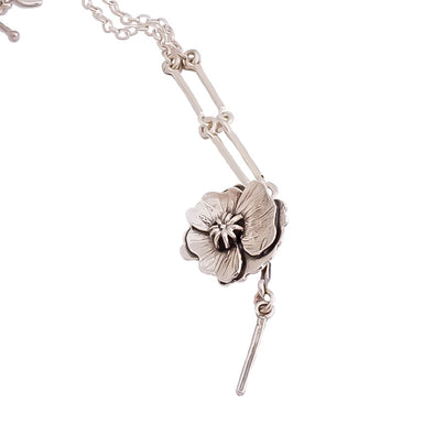 Silver Poppy Necklace | nz jewellery | Redmanuka