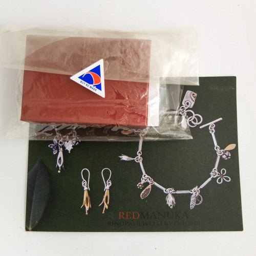 Gift Boxed Kowhai Necklace and Earrings, by nz jewellery designer Martyn Milligan