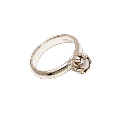 Side view of Silver Akoya Pearl Ring | Redmanuka | nz jewellery