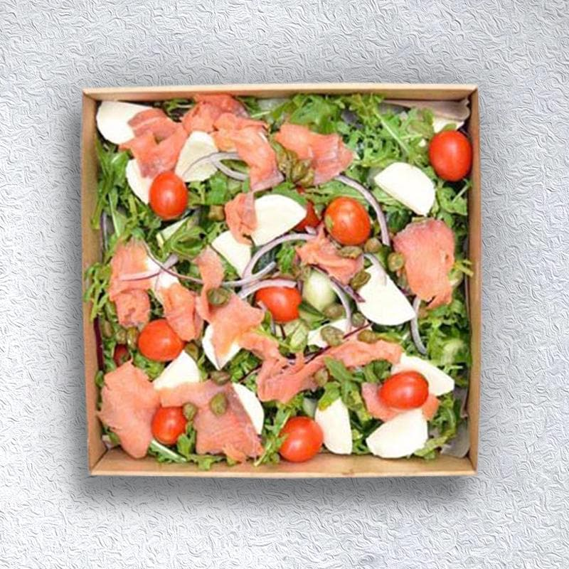 Smoked Salmon, Bocconcini, Cherry Tomato & Rocket Salad Pen Catering