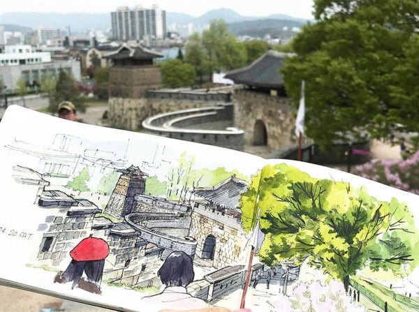 5 Easy Steps to Creating Urban Sketches - From Beginner to Expert Illustration 함형미
