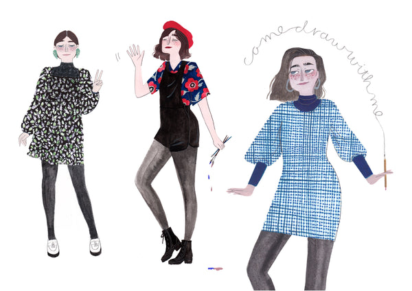 What I Wear Every Monday : Fashion Illustration Portraits