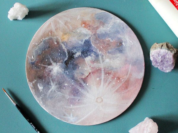 Create Dreamy and Magical Planets with Acrylic Paints