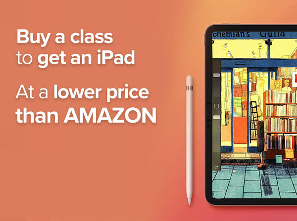 Buy a Class to Get an iPad at the Lowest Price EVER! Digital Drawing Class101 Global