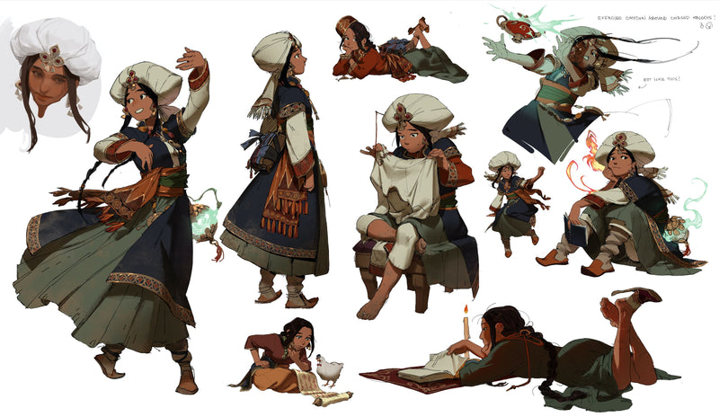 Character Concept Design: From Fundamentals to Illustration Digital Drawing Arucelli