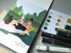 Create Elegant Minimalist Marker Drawings: An Online Class Illustration ourWASAB Class Access Only