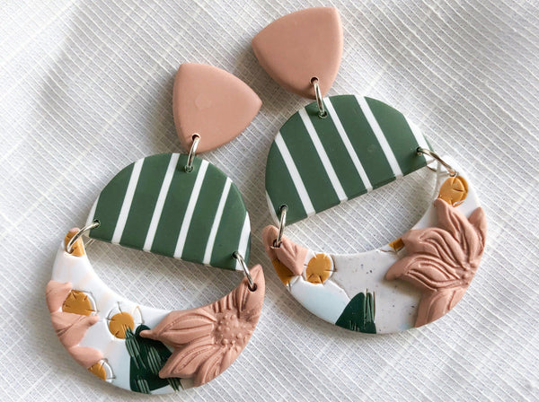 Create Original Statement Earrings with Polymer Clay Crafts LTcreated