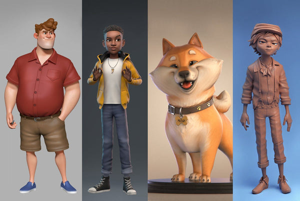 Create Stylized 3D Characters for Animation and 3D Printing Digital Art tyrassic