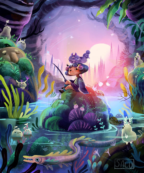 Creating a Fantasy Art in Procreate Digital Drawing Class101