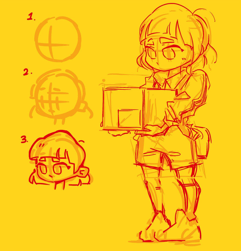 Design Your Own SD (Chibi/Anime) Characters: Online Digital Drawing Class Digital Drawing 유노