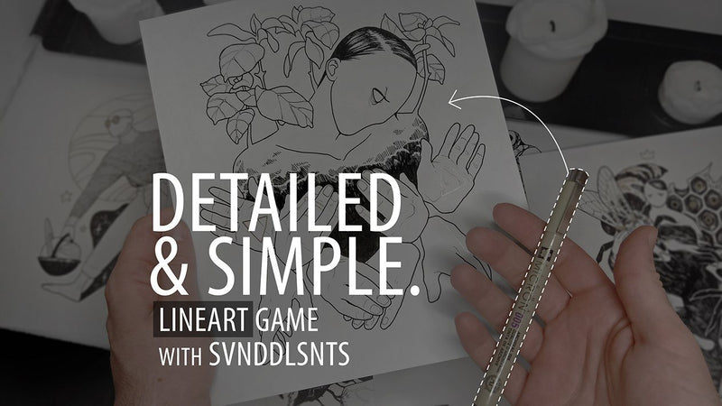 Detailed & Simple: Lineart Game with SVNDDLSNTS Illustration SVNDDLSNTS