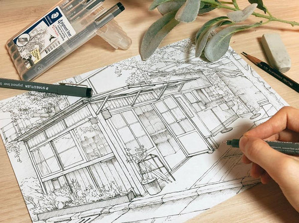 Detailed Urban Sketches With Only a Pen Illustration 리니 1차 Class Access Only