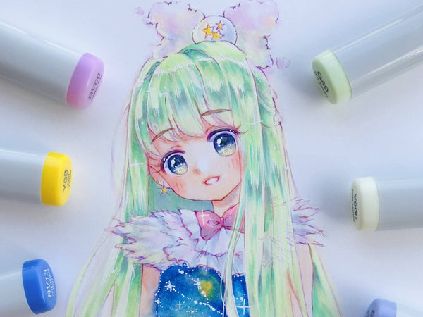 Draw Cute and Dreamy Anime Characters with Markers Illustration Anzy