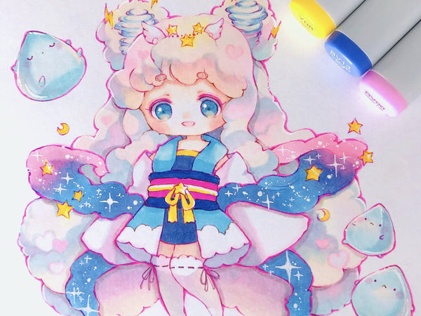 Draw Cute and Dreamy Anime Characters with Markers Illustration Anzy Class Access Only (No Kit)