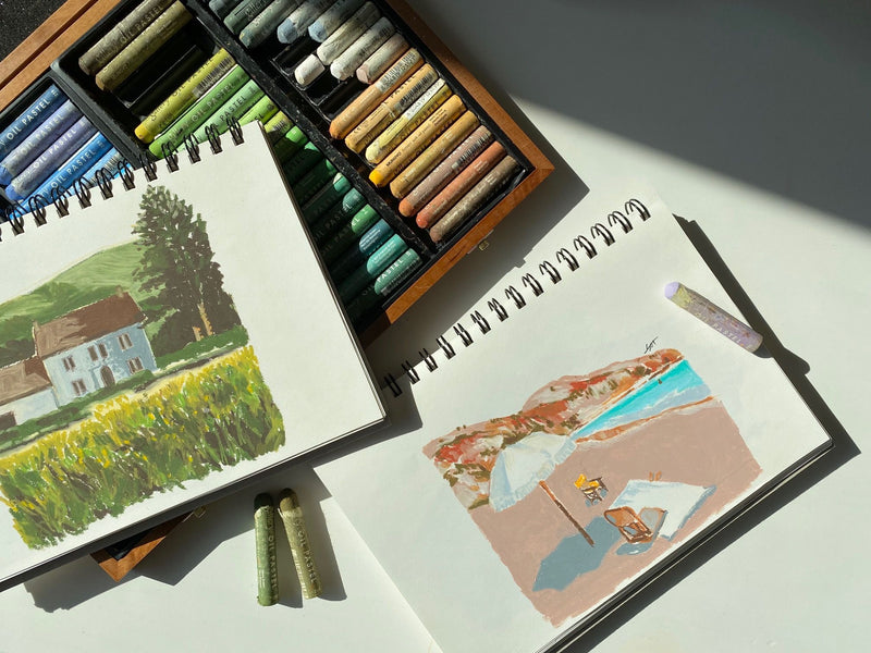 Draw like Monet: Online Oil Pastel Travel Drawing Class Illustration 아일렛솔 Class Access Only