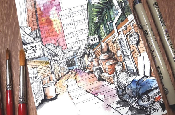 Draw Urban Sketches Like An Architect Illustration 스케치포럼 Class Access Only