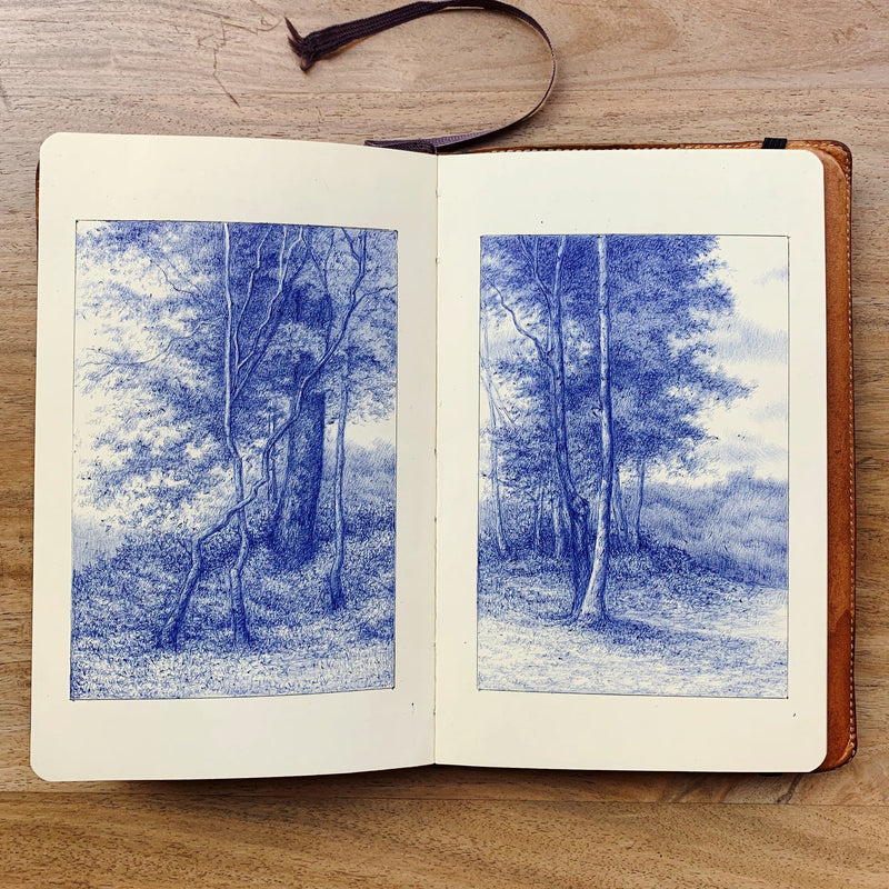 Explore Natural Landscapes through Pen and Paper Illustration Luis Colan