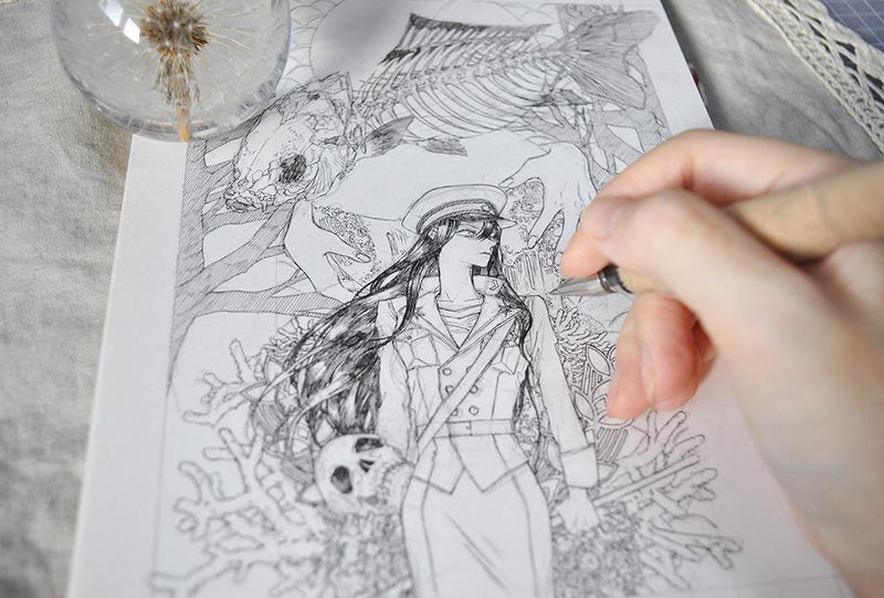 [Hidden🤫] A Character Drawing Class: Create Your Own World with a Ballpoint Pen Illustration 약국
