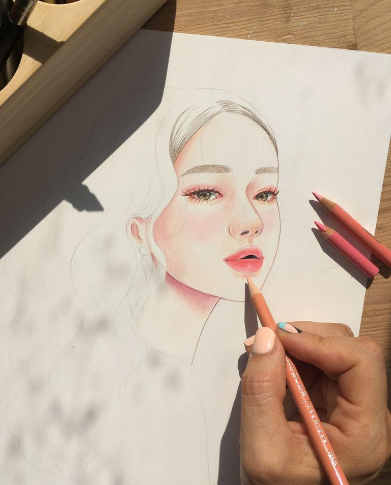 [Hidden🤫] Mastering Colored Pencil Portraits: Drawing for Beginners Illustration 이현미