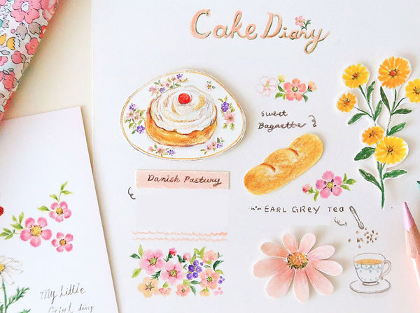 How to Draw Flowers, Teasets and Food: Colored Pencil Drawing Class Illustration 빈티지걸 Class Access Only