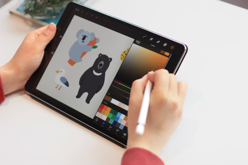 Illustrations that Fill the Heart: Draw Warm and Cute Illustrations on the iPad Digital Art 흐스흐