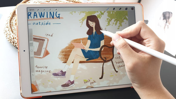 Learn How to Bring Out Texture in iPad Drawing Digital Drawing 조소현