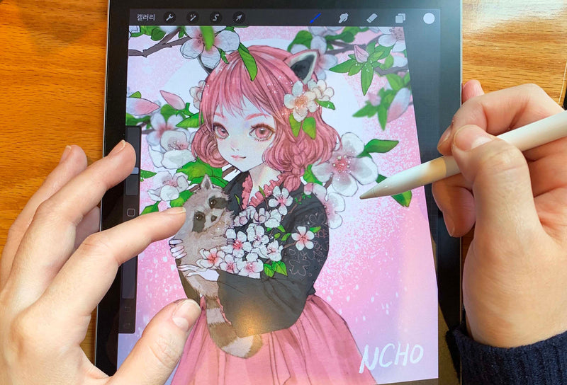Learn to Draw Beautiful Anime Drawings on the iPad Digital Drawing 엔쵸 (NCHO)
