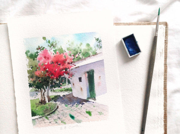 Learn to Paint the Loose Watercolor Plants and Nature Sceneries watercolor Ciaoyin