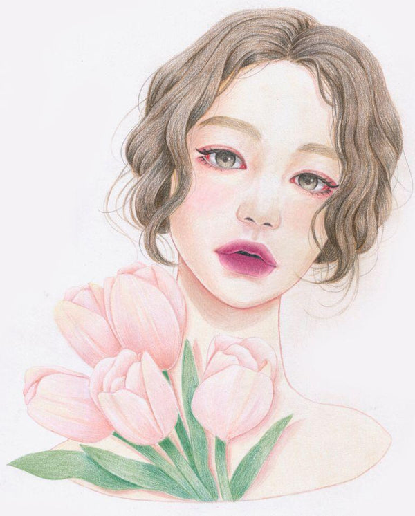 Mastering Colored Pencil Portraits: Drawing for Beginners Illustration 이현미